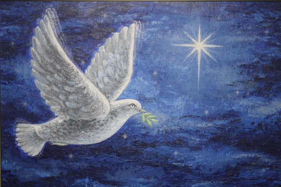 Dove of Peace painting