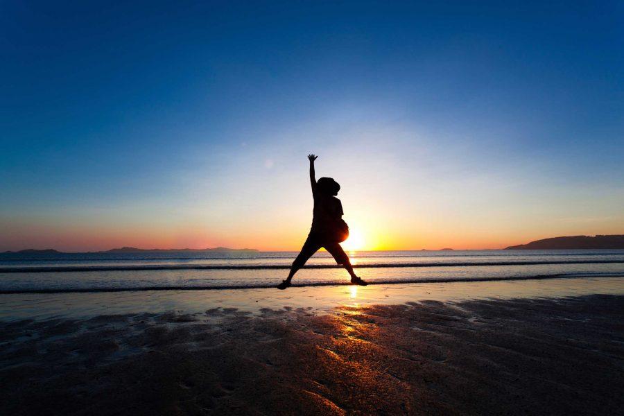 high-five-sunset