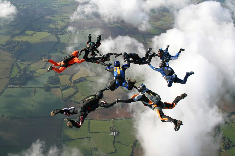 skydiving-group